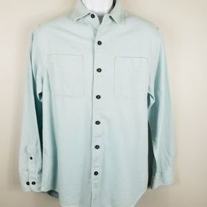 Tommy Bahama flannel button-down shirt pale blue